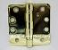 "Hager RCBB1279 Hinge 1 Each 4"" x 4"" 1/4"" Radius Ball Bearing Hinges US3 Bright Brass"
