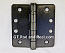 "Hager RCBB1279 Hinge 1 Each 4"" x 4"" 1/4"" Radius Ball Bearing Hinges US10d Black Bronze Oiled"