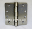 "Hager RCBB1279 Hinge 1 Each 4"" x 4"" 1/4"" Radius Ball Bearing Hinges US15 Satin Nickel"