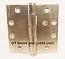 "Hager ECCO EC1101 4-1/2"" x 4-1/2"" Hinge US32d Satin Stainless Steel"