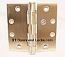 "Hager ECCO ECBB1101 4-1/2"" x 4-1/2"" Ball Bearing Hinge US32d Satin Stainless Steel NRP Non Removable Pin"