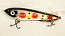 """Smuttly Dog Baits Lures 8"""" Drop Belly 8DB Musky Glide Bait  Color: White Clown"""