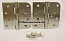 "Hager Hinges RC1847-1848 5/8 Radius x Square Corner 4"" x 4"" US15 Satin Nickel 2 Each Hinges"