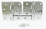 "Hager Hinges RC1847-1848 5/8 Radius x Square Corner 4"" x 4"" US26 Satin Chrome 2 Each Hinges"