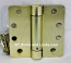 "Hager Hinges 1251 1/4"" Radius Corner US4 Satin Brass 4 x4 Self Closing Hinge"
