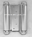 Hager 1303 5in Double Acting Spring Cafe Hinge-Steel Base US26d Satin Chrome