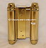 Hager 1303 4in Double Acting Spring Cafe Hinge-Steel Base US3 Bright Brass