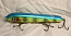 """Hughes River Musky 8"""" Hughey Bait Color; Turquoise Yellow Neon Sharp Nose"""