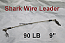 90 LB EZ Clip Shark Wire Leader 7x7 49 Strand Nylon Coated Wire-9""