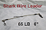65 LB EZ Clip Shark Wire Leader 7x7 49 Strand Nylon Coated Wire-6""