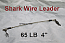 65 LB EZ Clip Shark Wire Leader 7x7 49 Strand Nylon Coated Wire-4""