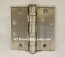 "Hager Hinge BB1199 Full Mortise Hinge 4 1/2"" x 4 1/2"" US32d Satin Stainless Steel non Removable Pin"