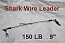 150 LB EZ Clip Shark Wire Leader 7 Strand Nylon Coated Wire-9""