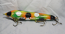 "Muskie Safari Mr. Automatic 8"" Count-Down Glide Bait Fire Tiger Clown"