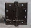 "Hager Hinge BB1168 Full Mortise Hinge 5"" x 5"" US10d Dark Oil Rubbed Bronze with Non Removable Pin"