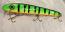 Pearson Plug Lucky 13 Shallow Diver Balsa  Color, Green Glow Perch