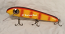 "Pearson Plugs 8"" Minnow Shallow Diving with Hatchet Trailer  Color, Orange Bar Perch"