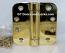 "Hager Hinges 1252 5/8"" Radius Corner US3 Polished Brass 4 x 4 Self Closing Hinge"