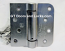 "Hager Hinges 1754 5/8"" Radius x Square Corner US26d Satin Chrome 4"" x 4"" 426r r7189 Self Closing Hinge"