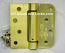 "Hager Hinges 1754 5/8"" Radius x Square Corner US4 Satin Brass 4"" x 4"" 426r r7189 Self Closing Hinge"