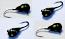 #503, 4 each Tungsten Ice Fishing Tear Drop Jig, 1.1 Gram, #14, Hook, 4.0mm, Glowing Black Bug