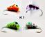 #813-4 Tungsten Ice Fishing Wax Worm Jig 1.7 Gram #14 Hook Glowing Green Tiger-Purple Tiger-Orange Tiger-Wonder Bread
