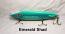 "Fat AZ 8"" Stinger Musky Glide Bait  Emerald Shad"