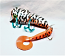 """Nimmer Swimmer 7"""" Mega Wolly Pog with Tail, Color Orange Belly Tiger"""