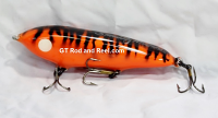 """Smuttly Dog Baits Lures 5"""" Minnow, Color; Orange Tiger"""