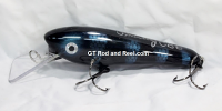 "Smuttly Dog Baits 6"" Troller/Crankbait Color Black and Blue Shad"