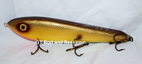 "Smuttly Dog Baits Lures 10"" Drop Belly 10DB Musky Glide Bait  Color: Yellow Bullhead"