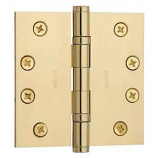 "Baldwin Hinges 1041 Ball Bearing 4"" x 4"" Polished Brass"
