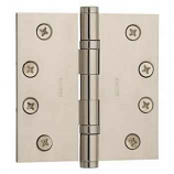"Baldwin Hinges 1041 Ball Bearing 4"" x 4"" Polished Nickel"