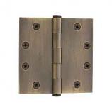 """Baldwin Hinges 1045 Ball Bearing 4.5"""" x4.5"""" Antique Brass"""