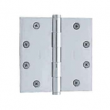 "Baldwin Hinges 1045 Square Corner 4.5"" x4.5"" Polished Chrome"