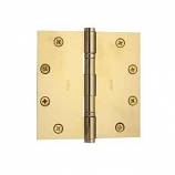 "Baldwin Hinges 1051 Ball Bearing 5"" x 5"" Polished Brass"