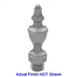 Urn Tip Finial Brushed Chrome