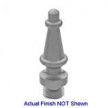 Steeple Tip Finials Brushed Chrome