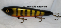 "Smuttly Dog Baits Lures 10"" Drop Belly 10DB Musky Glide Bait  Color: Okoboji Perch"