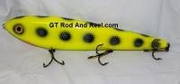 "Smuttly Dog Baits Lures 12"" Big ""N""  Musky Glide Bait  Color: Chartreuse Bandit"