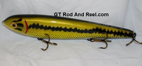 "Smuttly Dog Baits Lures 12"" Big ""N""  Musky Glide Bait  Color: Large Mouth Bass"