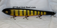 "Smuttly Dog Baits Lures 15"" Big ""H""  Musky Glide Bait  Color: Okoboji Perch"