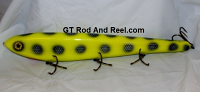 "Smuttly Dog Baits Lures 15"" Big ""H""  Musky Glide Bait  Color: Chartreuse Bandit"