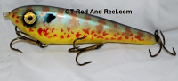 """Smuttly Dog Baits Lures 8"""" Drop Belly 8DB Musky Glide Bait  Color: Pumpkinseed Sunfish"""