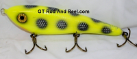 "Smuttly Dog Baits Lures 8"" Drop Belly 8DB Musky Glide Bait  Color: Chartreuse Bandit"
