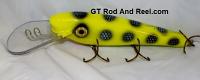 """Smuttly Dog Baits 8"""" Troller/Crankbait Chartreuse Bandit"""