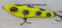"Smuttly Dog Baits Lures Petite 6"",  Color; Chartreuse Bandit"