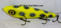 "Smuttly Dog Baits Lures 7"" Drop Belly, Color; Chartreuse Bandit"