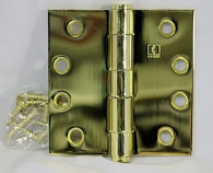 "Hager Hinges 1279 NRP 4"" x 4"" US3 Bright Brass"