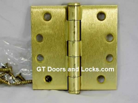 "Hager Hinge 1279 4"" x 4"" Square Corner Hinges Satin Brass US4"